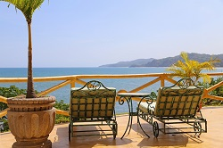 The stunning view from Villa Amor Hotel in Sayulita Mexico