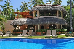 Alegria beachfront vacation rental in the Las Hamacas complex on Sayulita's north side