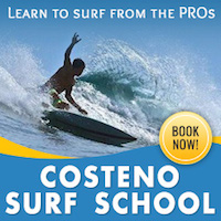 Costeño surf school in Sayulita banner
