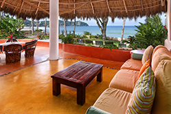Dulcinea beachfront rental in the Las Hamacas complex on Sayulita's north side