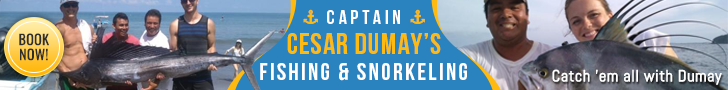Captain Cesar Dumay's Fishing and Snorkeling banner