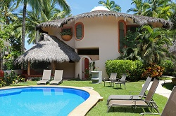 Enamorada beachfront vacation rental in the Las Hamacas complex on Sayulita's north side