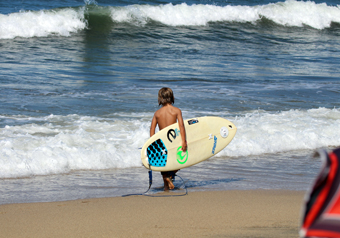 a young sayulita surfer