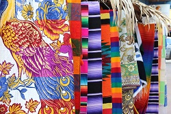 colorful textiles in Sayulita Mexico