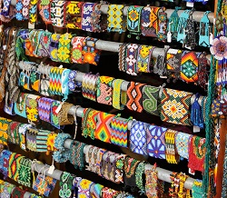 Huichol beaded jewelry in Sayulita Mexico
