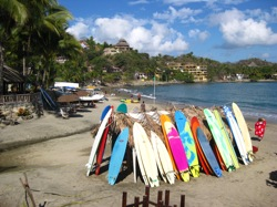 sayulita beach surfboards