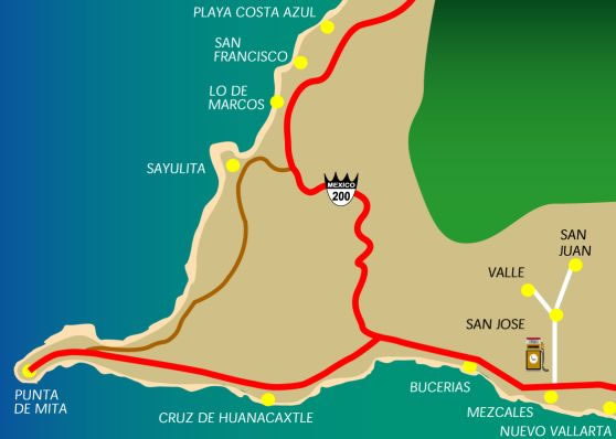 Sayulita Mexico Map Google.Maps Of Vacation Rentals Restaurants Shops Beaches Town Layout