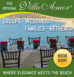 Villa Amor banner groups weddings families retreats