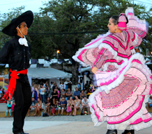 Mexican dancers in beautiful costume