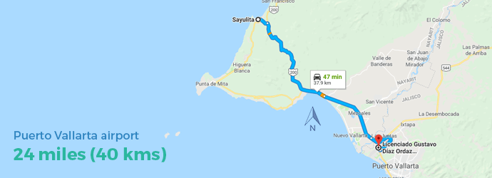 Driving Directions To Sayulita Nayarit From Puerto Vallarta - Maps-r-us-driving-directions