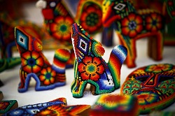 Huichol beaded art