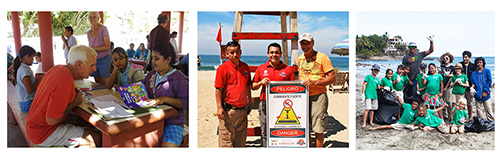 ProSayulita volunteers, lifeguards and beach clean up volunteers