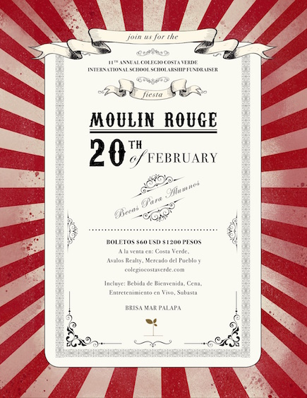 Costa Verdes Moulin Rouge Scholarship Fundraiser