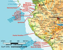 sayulita map local surf spots