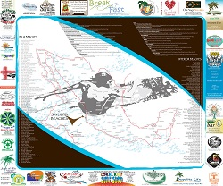 sayulita map mexican surf spots