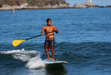 stand up paddler in sayulita